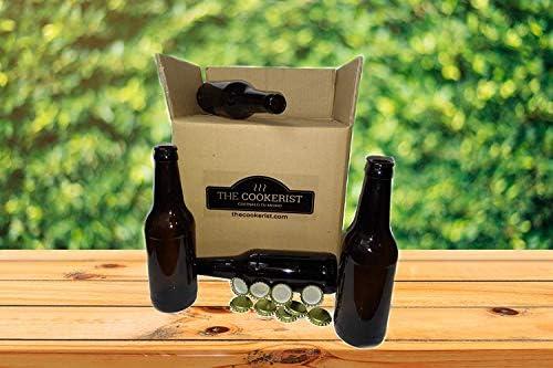 Compra Set Botellas 33 cl y 50 chapas para elaborar Cerveza en casa más Chapadora Doble Palanca de Regalo (16) en Amazon.es