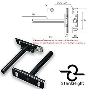 Ovillow Invisible Floating Shelf Brackets | Heavy Duty, Electroplated, Adjustable, Wall Mounted Supports for your Invisible & Concealed Shelf, Black (Pack of 6) with Easy Installation Hardware