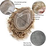 SinoArt Men's Hairpiece Human Hair Toupee Wig Super