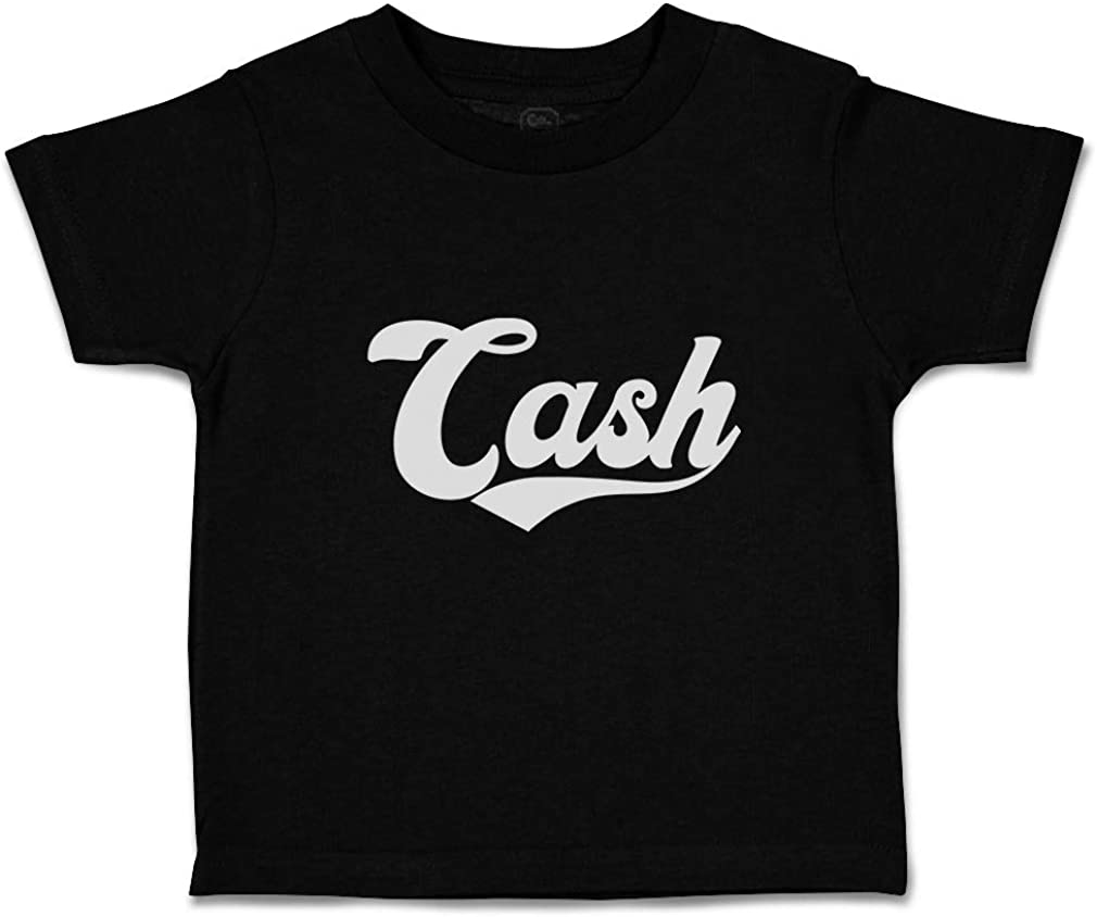 Custom Personalized Toddler T-Shirt Cash Money Cotton Boy /& Girl Clothes