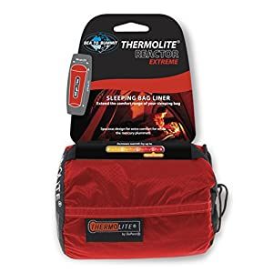 Sea to Summit - Reactor Extreme - Thermolite Mummy Liner, One Size, Red