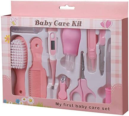 10 pcs kit para cuidar la higiene de los bebés,Estuche de cuidados y salud para bebe,Color Rosa: Amazon.es: Bebé