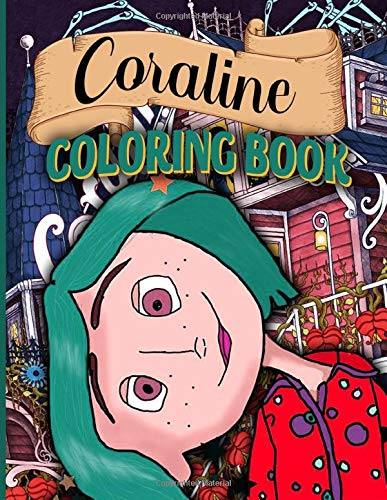 Coraline Coloring Book Coraline Awesome Adults Coloring Books Awesome Exclusive Images