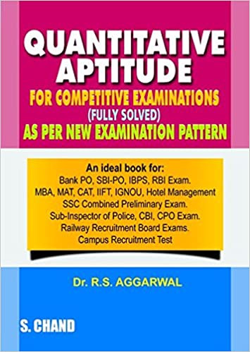 Best Books For Quantitative Aptitude Preparation Book 1