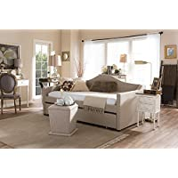 Baxton Studio Prime Twin Daybed in Beige