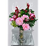 Silk-Blooms-Ltd-Artificial-Pale-Pink-Peony-and-Foxtail-Floral-Arrangement-wCalla-Lilies-and-Preserved-Pittosporum
