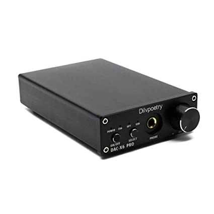 Amazon.com: Dilvpoetry X6 Pro DAC HiFi Headphone Amplifier Decoder 24Bit/192kHz Coaxial/Optical/USB Stereo Audio Digital Analog Converter(Black): Home Audio ...