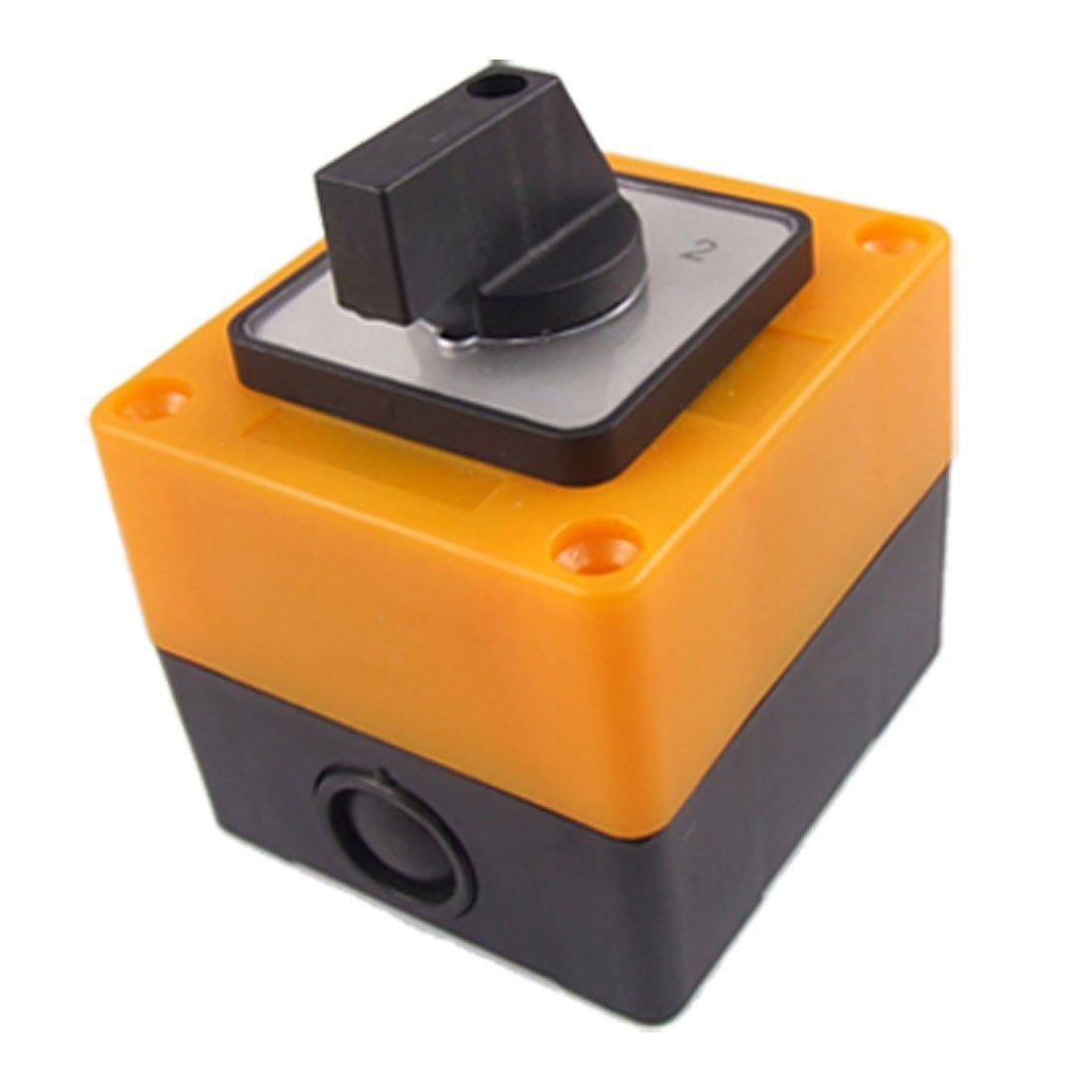 R Amarillo Interruptor Interruptor conmutador 3 posiciones rotativo LW28-20//3 500V 20A Negro TOOGOO