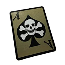 The Death Dealer Card, 3M Reflective Decal / Sticker - Ace of spades Skull (EMPIRE TACTICAL USA)
