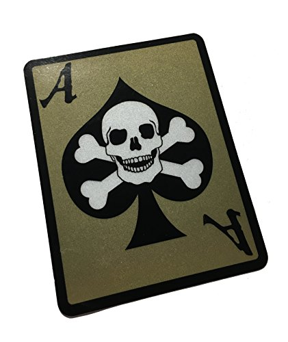 The Death Dealer Card, 3M Reflective Decal/Sticker - Ace of Spades Skull (EMPIRE TACTICAL USA)