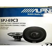 Alpine SPJ-69C3 6in. X 9in. COAXIAL 3-WAY 300 watts 60 Watts RMS