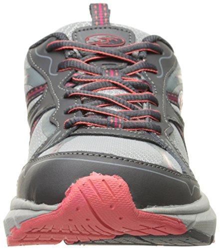 Dr. Scholls Damesmode Fashion Sneaker Donkergrijs Leer