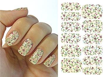 Kompletter Wrap Nail Art Wasser Transfer Aufkleber Sticker K5721B - K5721B Nail Sticker Tattoo - FashionLife