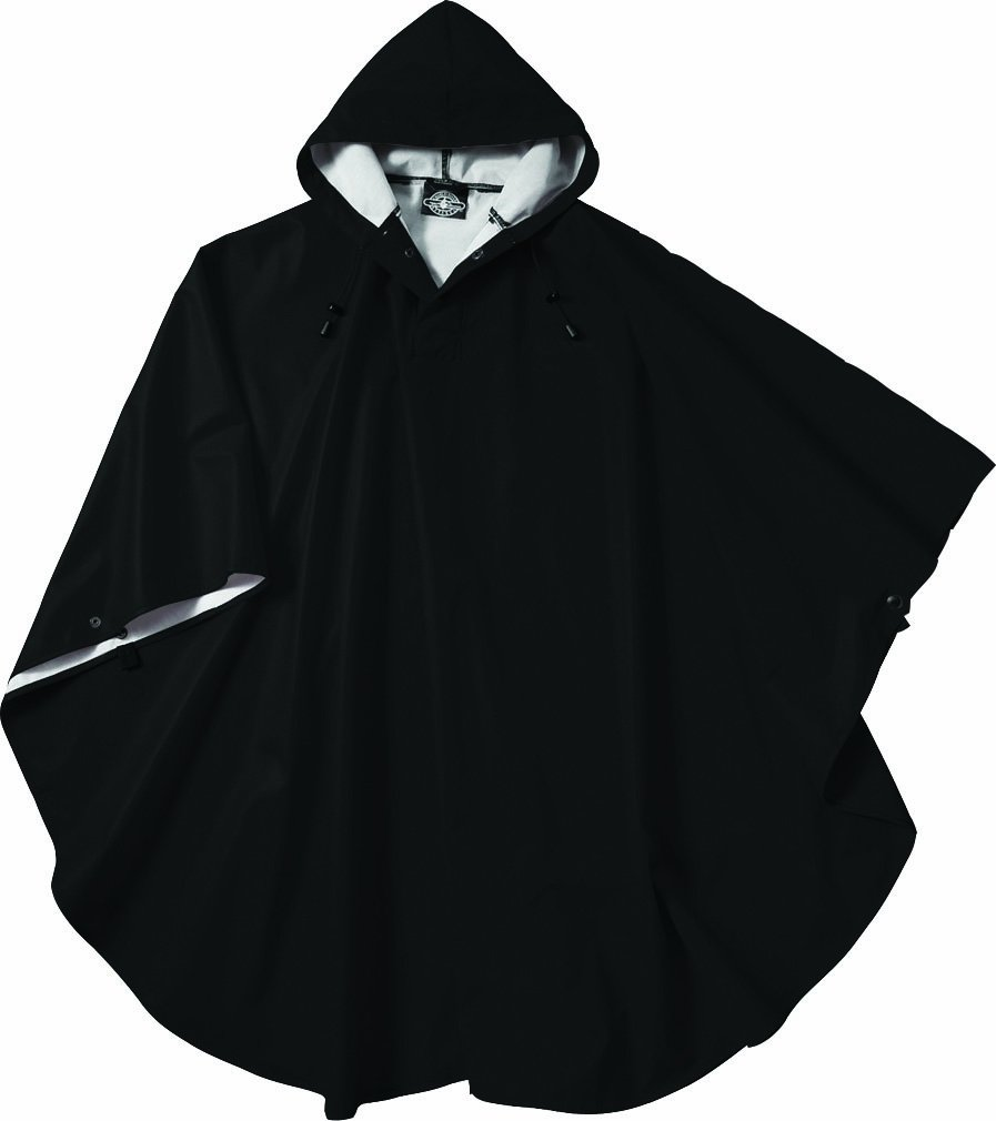 Charles River Apparel 8709 Youth Pacific Poncho, Black, One Size