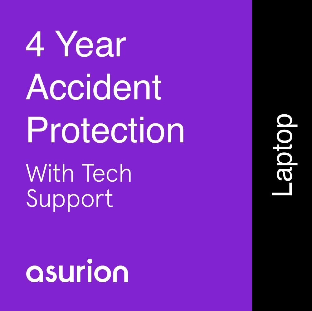 ASURION 4 Year Laptop Accident Protection Plan with Tech Support $1250-1499.99