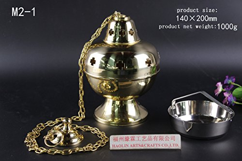 (HaoLin Brass Incense Censer Thurible for Church Chapel Holy Mass Altar M2-1. Our company have 21 kinds of censer for your choice)