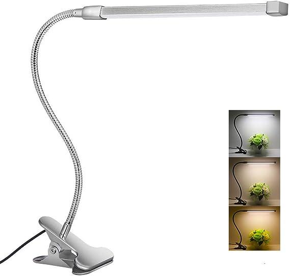 5W LED Leselampe mit Clip Klemmleuchte USB Dimmbar Schreibtischlampe Büroleuchte