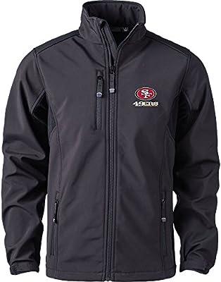 new arrival 2b6e5 0992a Dunbrooke Apparel NFL San Francisco 49ers Men's Softshell Jacket, X-Large,  Black