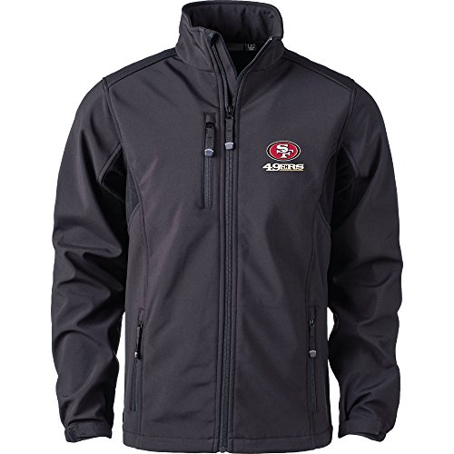 (Dunbrooke Apparel NFL San Francisco 49ers Men's Softshell Jacket, X-Large, Black)