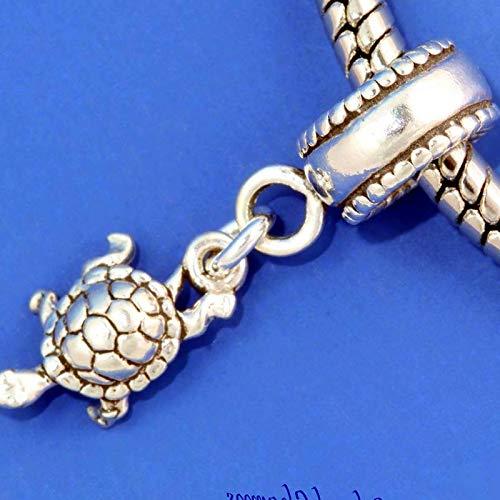Tortoise Turtle .925 Sterling Silver European Dangle Bead Charm Euro