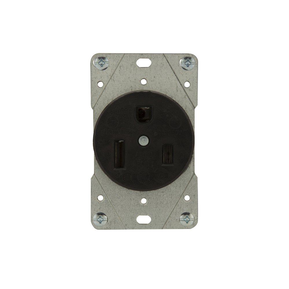 Eaton 5709N 50 Amp 250V 6-50 Industrial Power Receptacle, Black