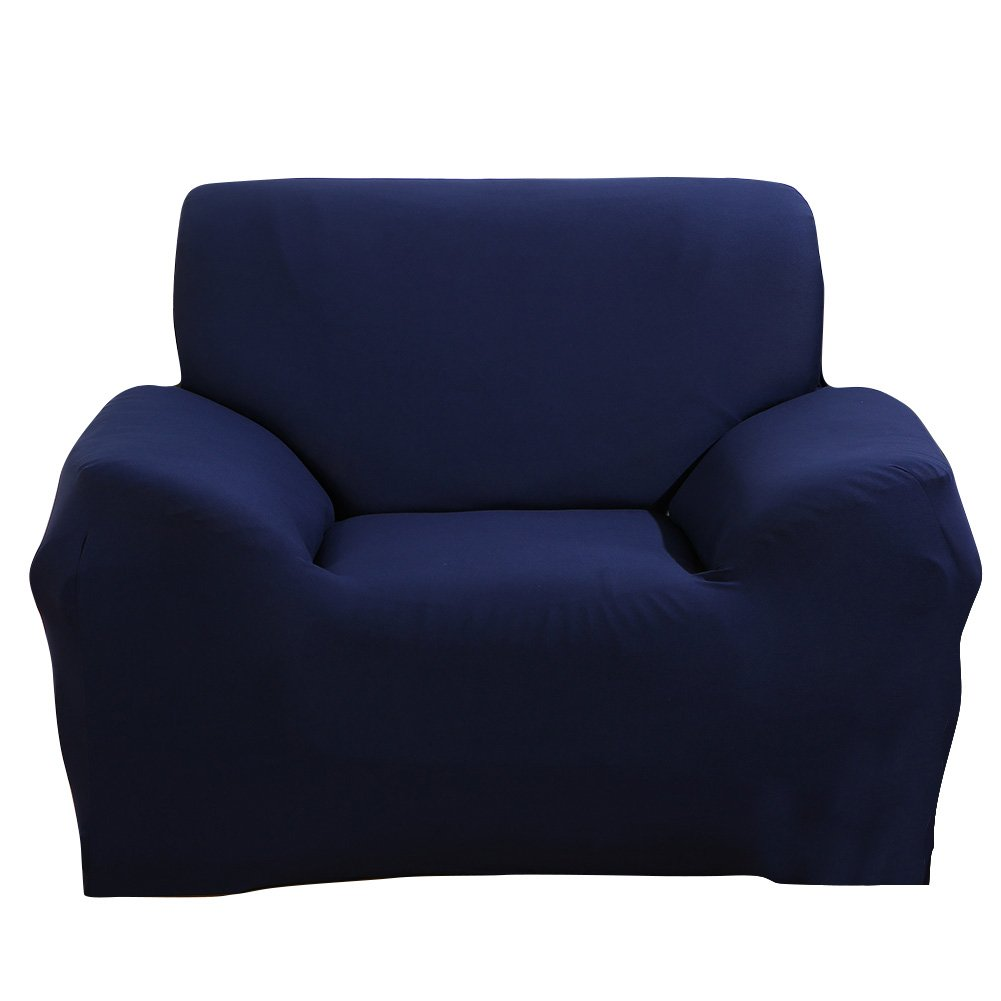 MIFXIN Stretch Arm Chair Cover Sofa Covers Slipcover Sofa 1-Piece 1 2 3 4 Seater Furniture Protector Polyester Spandex Fabric Armchair Slipcover a Pillow Cover Children Pets Blue