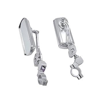 Ogquaton Durable Espejo retrovisor Ajustable Aleación de Aluminio Seguridad Espejo retrovisor Suministros de Bicicleta para Bicicleta Bicicleta de ...