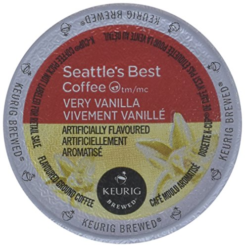Seattle's Best, Single Serve K-Cup Coffee, 3.6oz Box (Pack of 3) (Choose Flavors Below) (Very Vanilla)