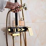 Shower mixer European All-Brass Black Gold Installed Shower Sets Supercharged Shower Head Shower Shower Head
