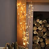 5 x 87cm Decorative Twig Lights with 50 Warm White LEDs by Festive Lights (Gold)