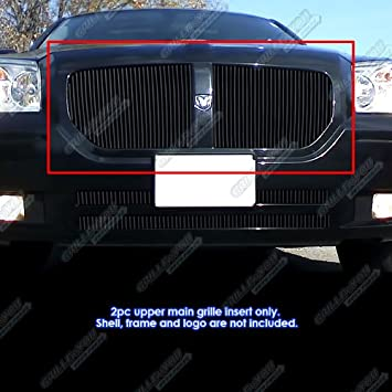 Aluminum Black Billet Grille For 2005-2007 Dodge Magnum Except SRT8