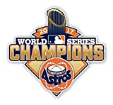 Houston Astros World Series Champions 2017 Wall Decal | 4 Size Vinyl Die Cut Bike Poster | Houston Astros World Series Champions 2017 Emblem Patch (5'wx4.7'h)