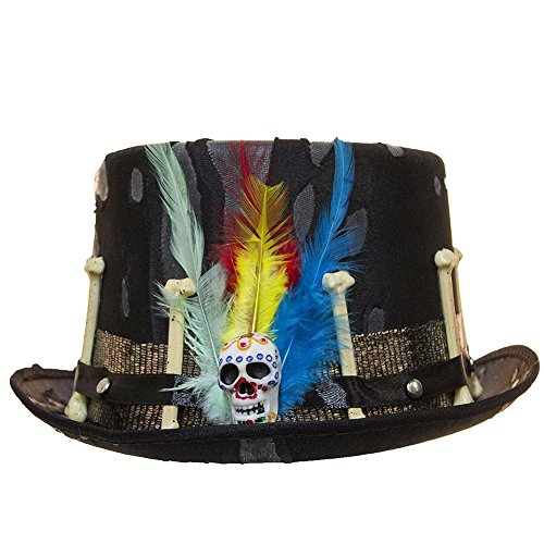 Black Voodoo Hat with Feathers (Voodoo Accessories)