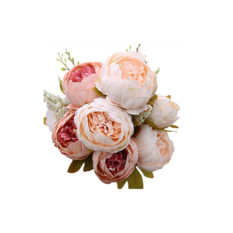 silk flower arrangements luyue vintage artificial peony silk flowers bouquet home wedding decoration
