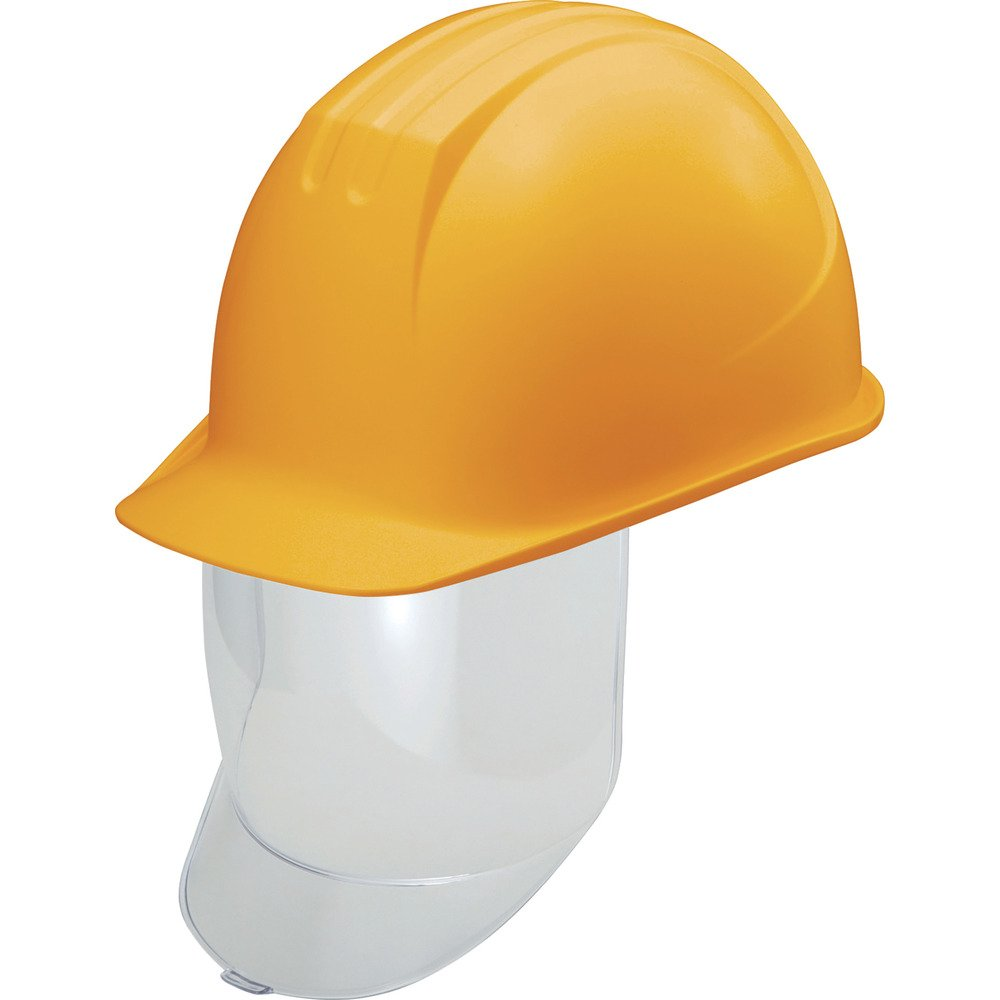タニザワ 大型シールド面付ヘルメット 溝付 イエロー 0162-SD-Y2-J シールド面付ヘルメット B0795B77BM