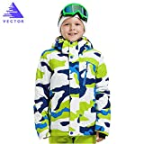 VECTOR Windproof Waterproof Kids Warm Hooded Winter Coat Snowboard Ski Jacket XXL