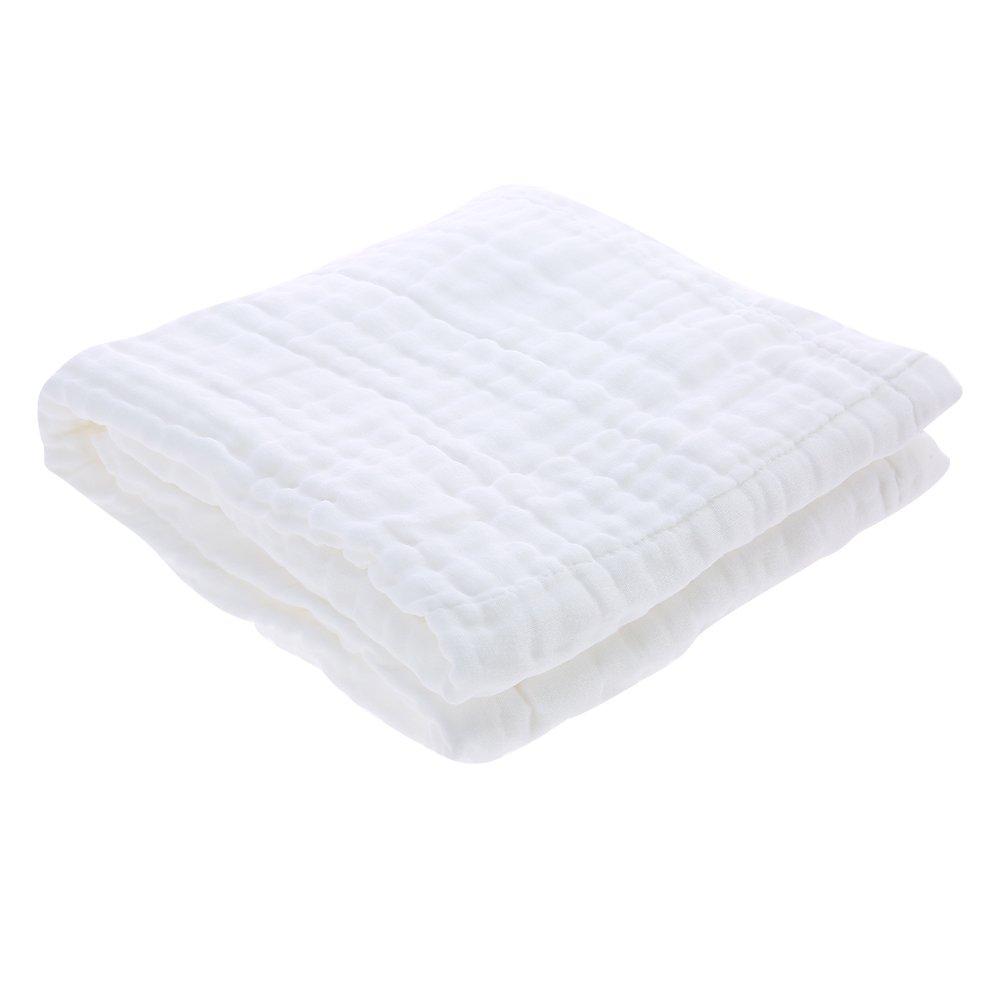 Docooler Manta de Toalla de baño para bebé Súper Absorbente de Agua súper Suave 100% algodón de Muselina para la Delicada Piel del bebé 6 Capas 50 * 30: ...