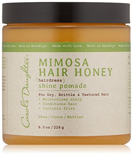 Carol's Daughter Mimosa Hair Honey Shine Pomade For Dry Hair and Textured Hair, with Shea Butter and Cocoa Butter, Paraben Free Hair Pomade, 8 fl oz (Packaging May Vary) (Best Moisturizer For Dry Natural Hair)