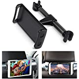 ECOEMO Car Headrest Mount, Adjustable iPad Stand Car Seat Tablet Holder,Cradle for iPad/Samsung Galaxy Tabs/Amazon Kindle Fire HD/Nintendo Switch,All 4 to 10.1 inch Devices and Tablets -Black