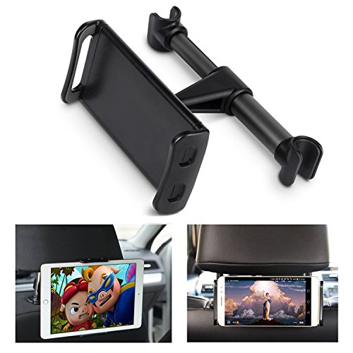 ECOEMO Car Headrest Mount, Adjustable iPad Stand Car Seat Tablet Holder,Replacement for iPad/Samsung Galaxy Tabs/Amazon Kindle Fire HD/Nintendo Switch,All 4 to 10.1 inch Devices and Tablets -Black