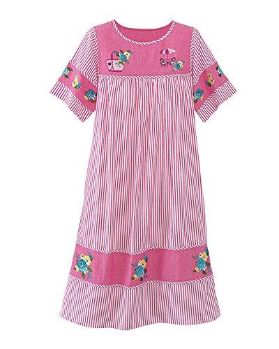 - National Chambray Stripe Dress, Azalea, Small