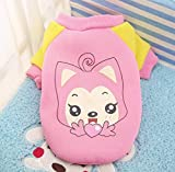 BiBaBoMax Autumn and Winter Cat Vest Clothes Puppy Chihuahua Coat for Dog Warm Coat Soft Cotton Pet Clothing (No 1 - L)