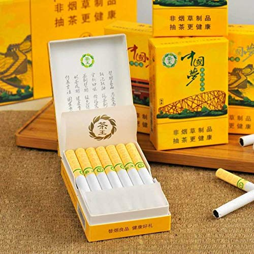 Yunnan Chinese Herbal Cigarettes, Green Tea Menthol Cigarettes, Smoke-Free-Nicotine-Free, Can Replace Cigarettes-Cigarettes That Can Clean The Lungs (1 Pack,Chinese Dream)
