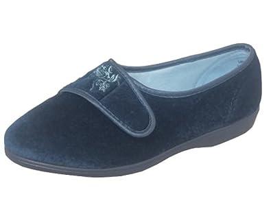 93c426d3fc9 Womens Ladies Wide FIT EEE Teal Velcro Slippers Shoes 3-8 (7 ...