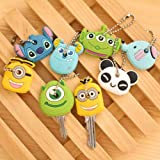 Aranher(TM) Cartoon Cute Key Ring Chain Cover Top Head Cap Keyring Bags Phone Keychain Strap(RNAdom Color)