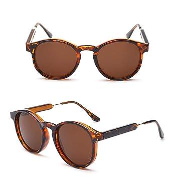 AAMOUSE Gafas de Sol Gafas de Sol Redondas de Estilo Vintage ...