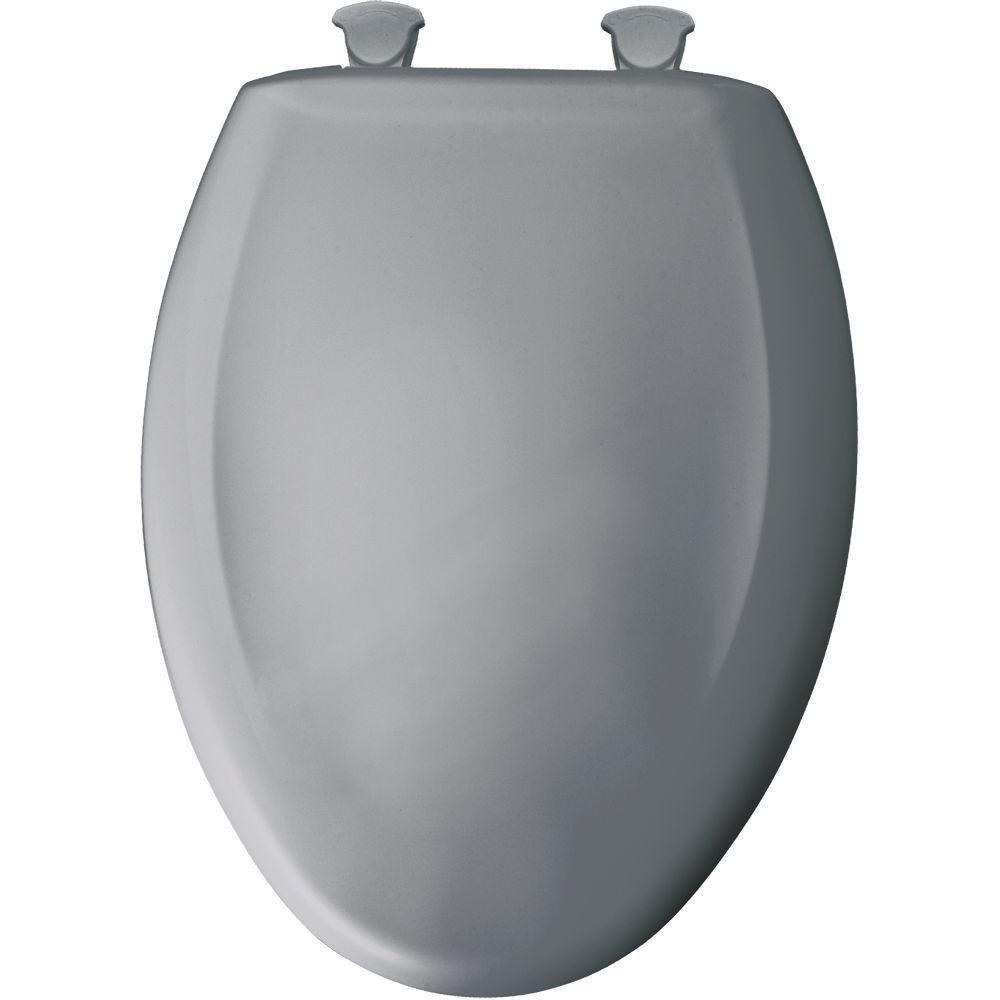 Bemis 1200SLOWT 032 Slow Sta-Tite Elongated Closed Front Toilet Seat, Country Grey