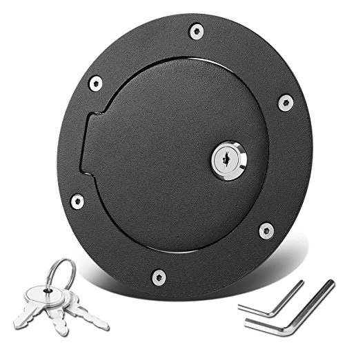 For Dodge Ram DS/DJ 4th Gen Fuel Gas Tank Door with Lock & Keys (Black Coated) (Dodge Tailgate Truck Lock)