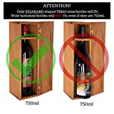 Thirteen Chefs Wooden Wine Box for Gifts, Solid