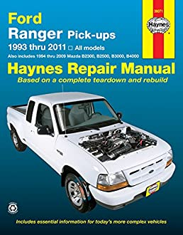 haynes repair manual ford ranger pick ups 1993 thru 2011 also rh amazon com 2009 ford ranger repair manual pdf Ford Ranger Parts